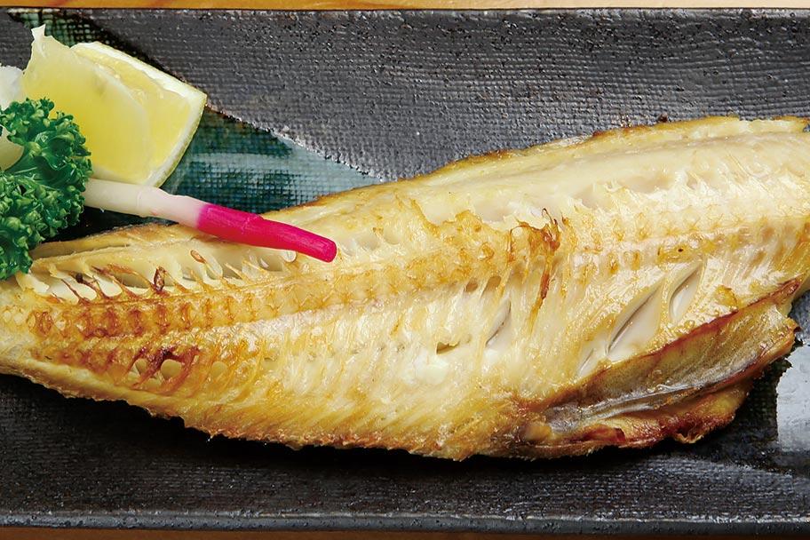 ほっけの塩焼き580円。美味しくてコスパも高い庶民の味方!