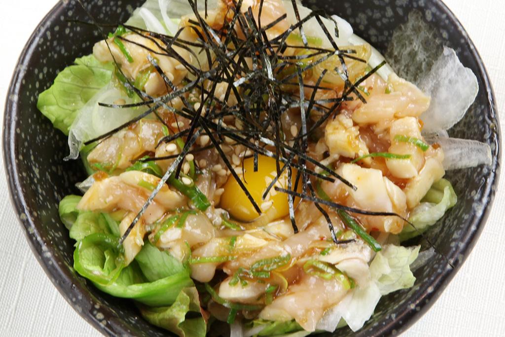 百日鶏のユッケ…380円